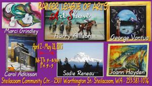 RAINIER LEAGUE OF ARTS ART SHOW With Sadie Reneau And 5 Other Artists At STEILACOOM COMMUNITY CTR., STEILACOOM, WA