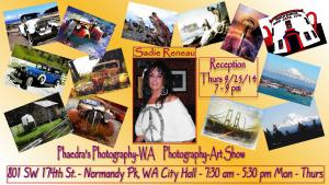 Photographer Sadie Reneau Art Show - Normandy Pk, WA